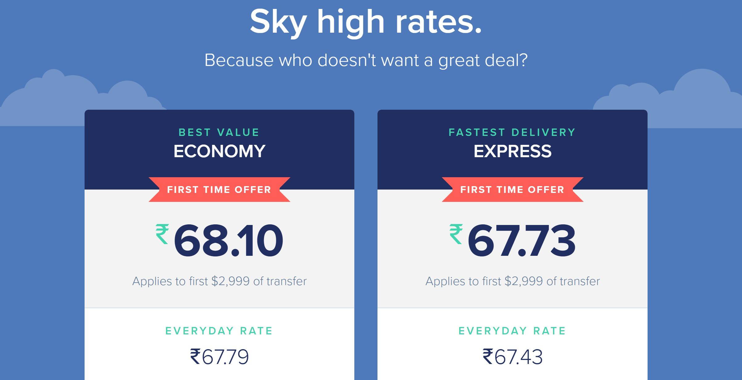 Remitly first time offer India January 2017