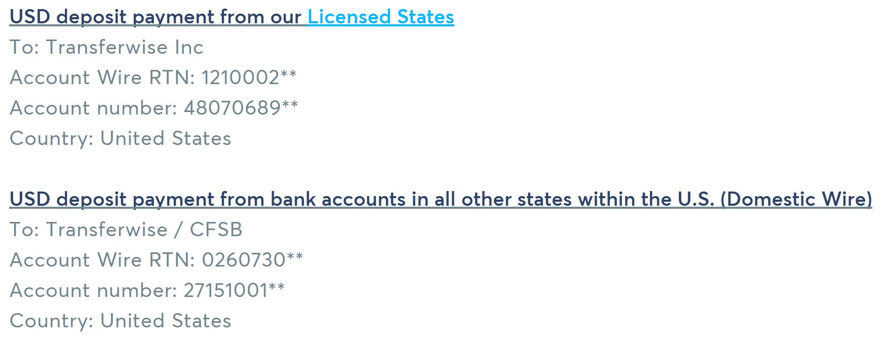 TransferWise bank accounts in USA - March 3, 2017