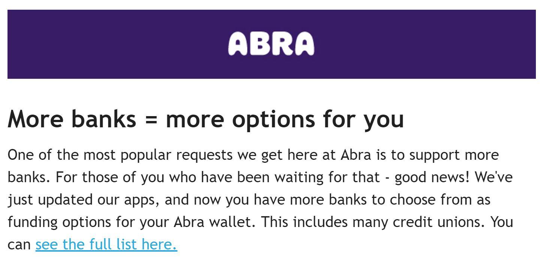 Abra email marketing - April 2017